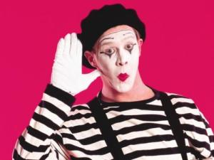 All you mimes know what I'm talking about.